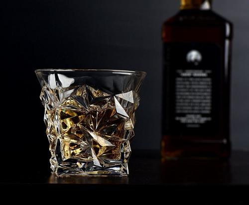 juego de 4 vasos diseño de cristal cortado para licores lp