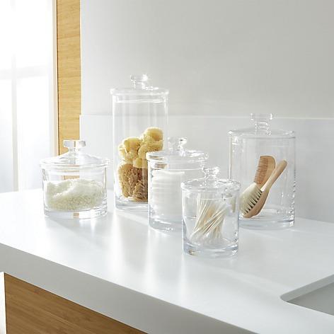 juego de 5 frascos de vidrio