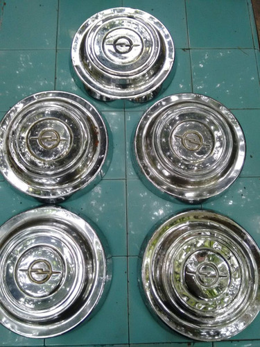 juego de 5 tazas cromadas para opel