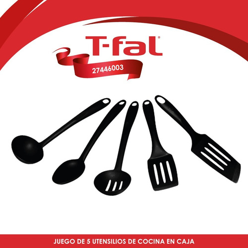 juego de 5 utensilios para cocina con caja t-fal 27446003
