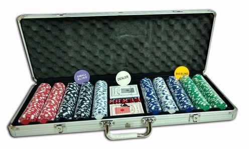 juego de 500 fichas de poker 2 deck y dados