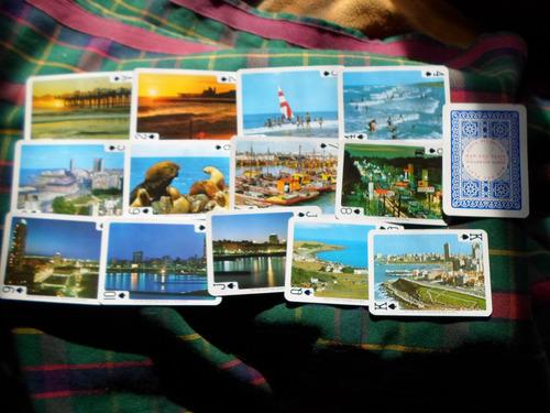 juego de 54 naipes con paisajes de mar del plata y costa atl