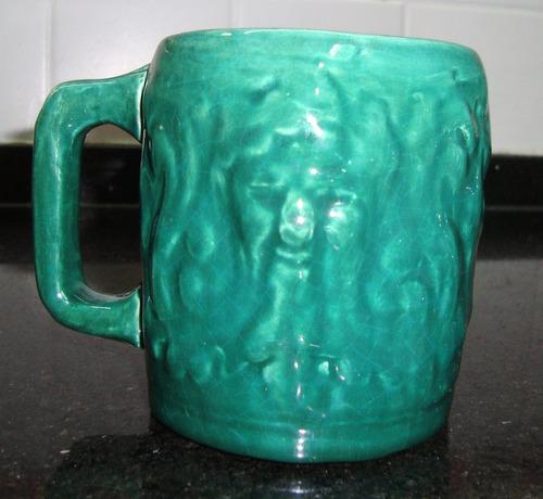 juego de 6 choperas de ceramica - antigua