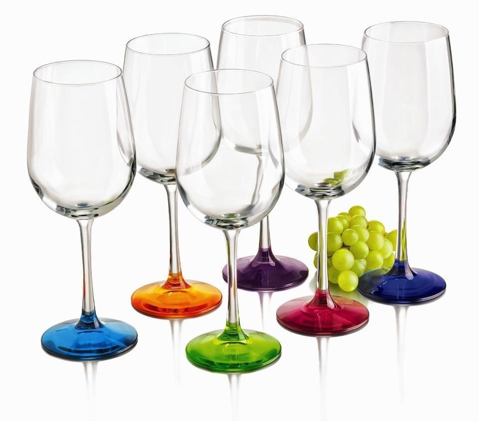 juego de 6 copas de colores de vidrio crisa ccoenvios