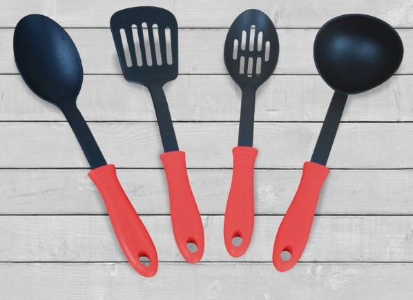 juego de 6 cucharones de cocina de plastico en