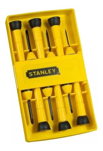 juego de 6 destornilladores de precisión stanley pro 66-052