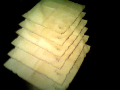 juego de 6 individuales de mesa bordados