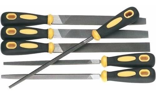 juego de 6 limas para metal carpintero herrero d3112