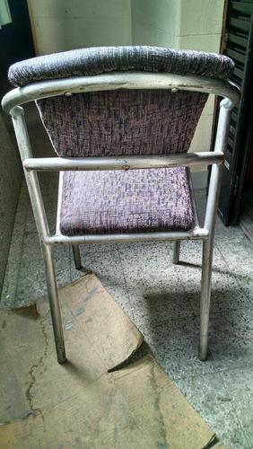 juego de 6 sillas de caño tapizadas