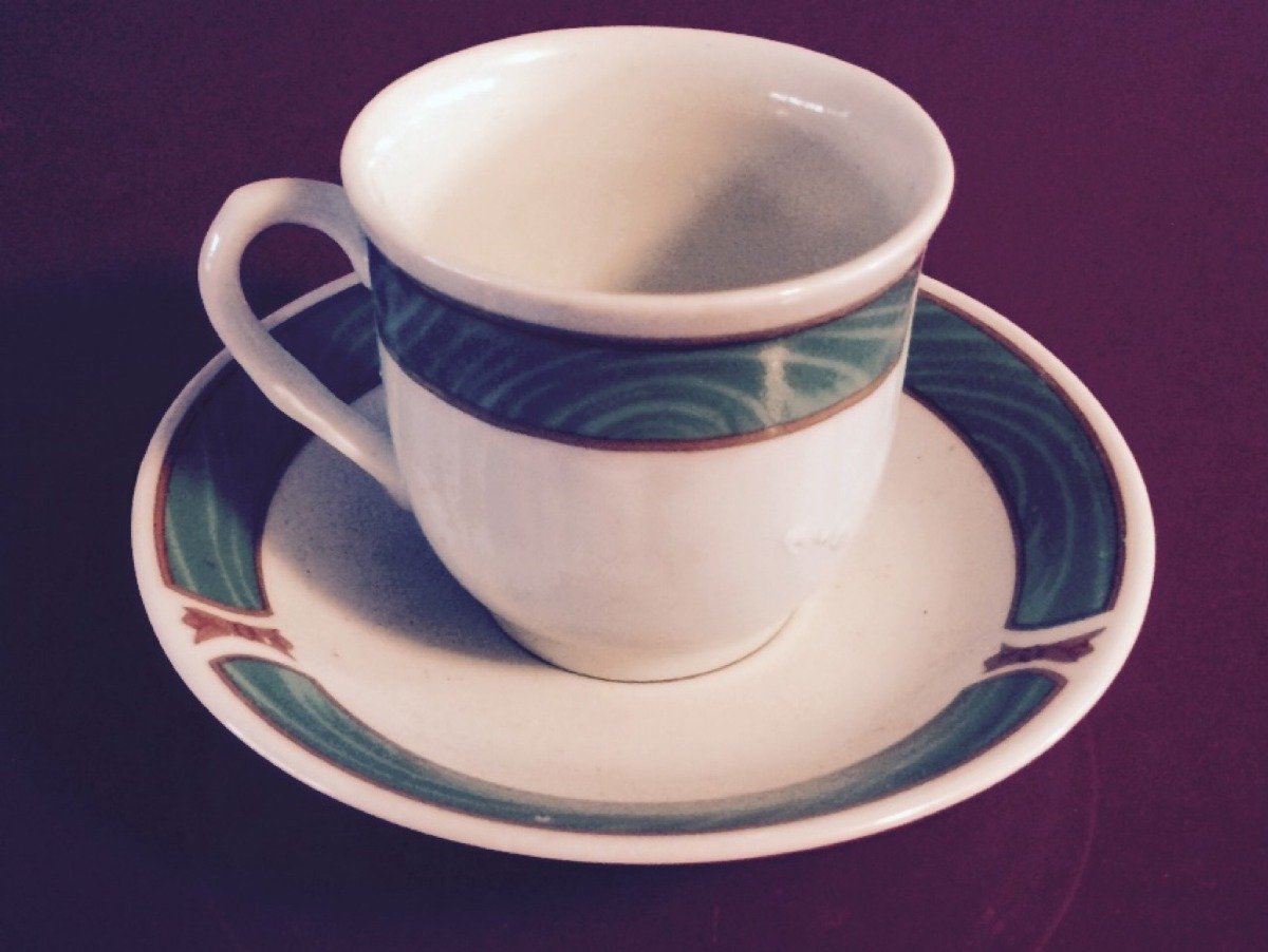 Juego de 6 tazas y platos de porcelana en for Platos porcelana