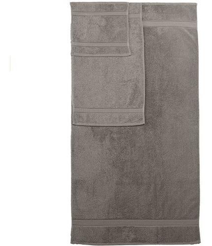 juego de 6 toallas algodón egipcio color gris + envío gratis