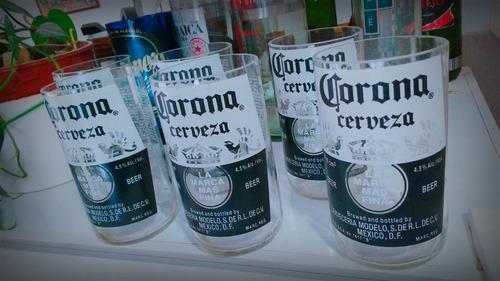 juego de 6 vasos - botella de cerveza corona de 710ml