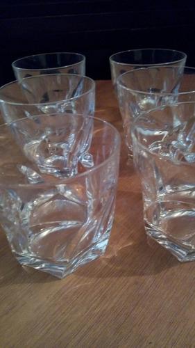 juego de 6 vasos de wisky de cristal