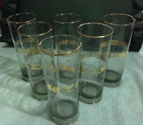 juego de 6 vasos decorados