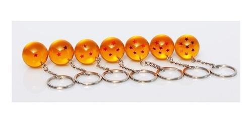 juego de 7 llaveros esferas del dragon ball z super goku dbz