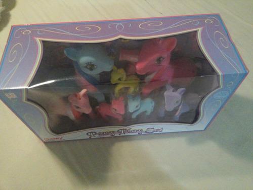 juego de 7 pony con accesorios (25 piezas)