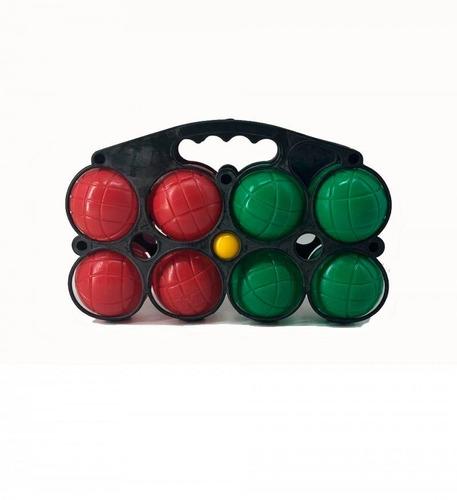juego de 8 bochas en valija de plastico macizo faydi edu