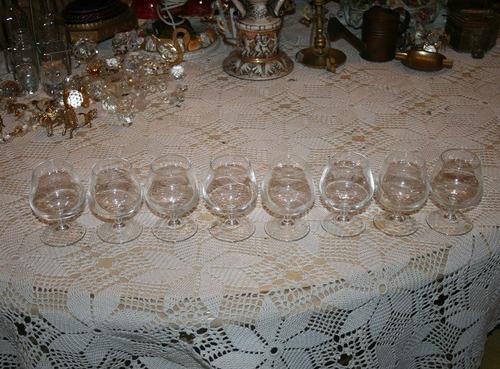 juego de 8 copas de cristal.