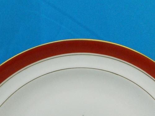 juego de 8 platos llanos porcelana limoges chastagner