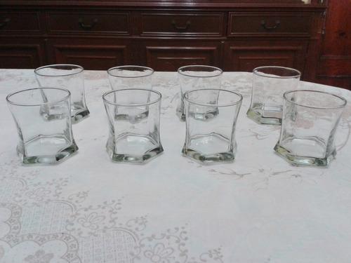 juego de 8 vasos de cristal pequeños