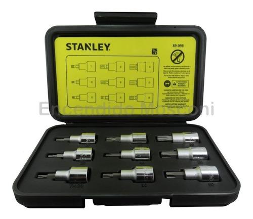 juego de 9 tubos con punta torx 1/2'' stanley