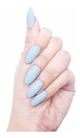juego de 96 uñas de acrilico colorido con cubierta completa