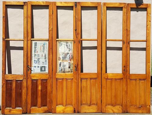 juego de aberturas de cedro macizo - puertas de estilo