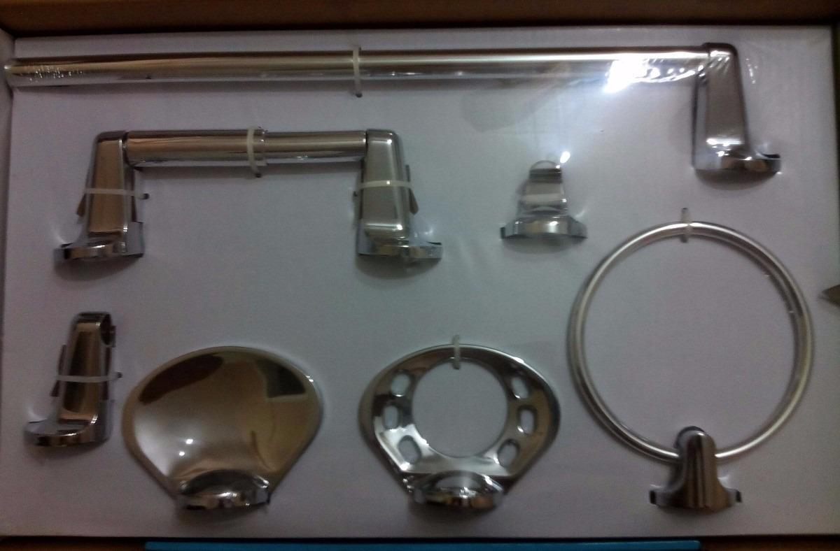 Juego de accesorios para ba o 6 piezas aspen marca moen for Marcas accesorios bano
