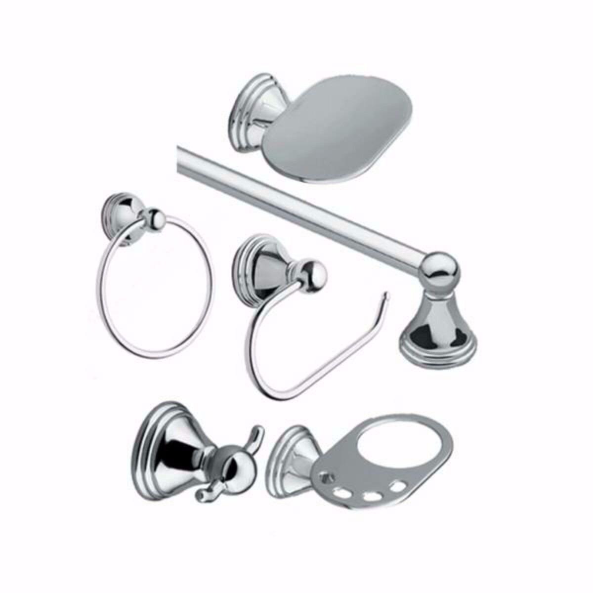 Juego de accesorios para ba o 6 piezas marca moen bs for Marcas accesorios bano