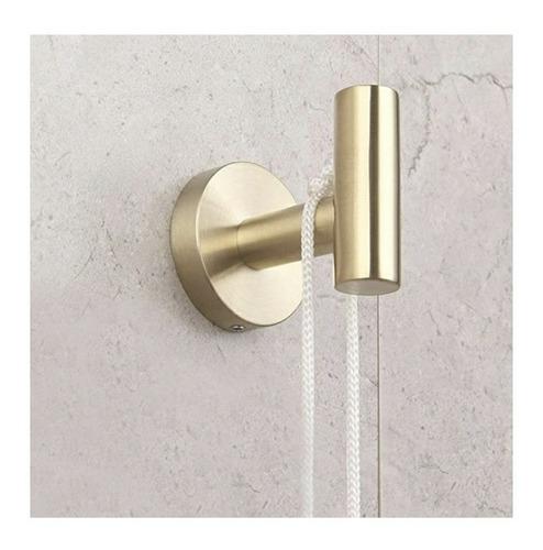 juego de accesorios para baño  color dorado