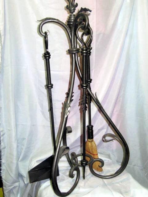 Juego de accesorios para chimenea hierro y forja 4 piezas - Accesorios para chimeneas ...