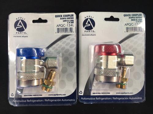 juego de adaptadores conector r-134a carga de gas automovil