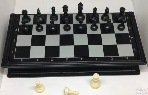juego de ajedrez 3 en 1 tablero magnético diseño compacto