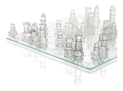 juego  de ajedrez de cristal