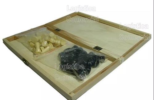 juego de ajedrez de madera 29x29