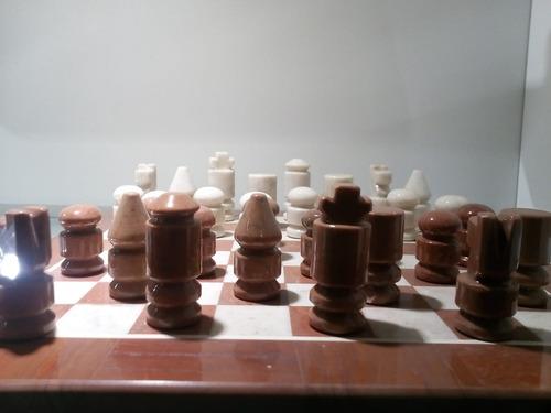 juego de ajedrez en piedra onix nuevo