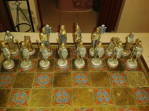 juego de ajedrez estilo romano de colección