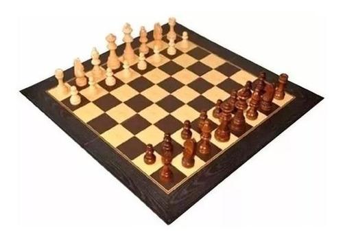 juego de ajedrez piezas de madera de 95 mm  art 9828 bisonte