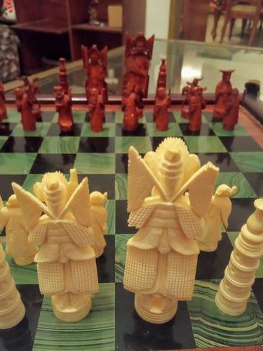juego de ajedrez piezas de marfil