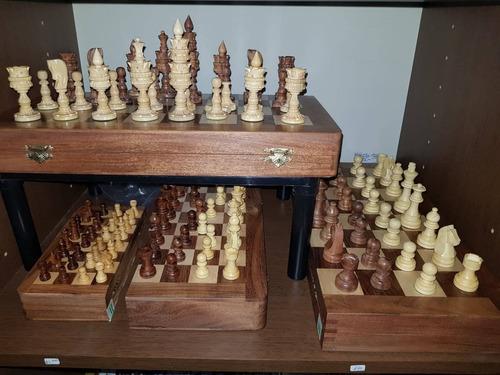 juego de ajedrez premium tablero caja madera 40 x 40