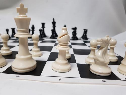 juego de ajedrez profesional tipo staunton c/tablero economi