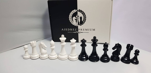 juego de ajedrez profesional - triple plomada blanco y negro
