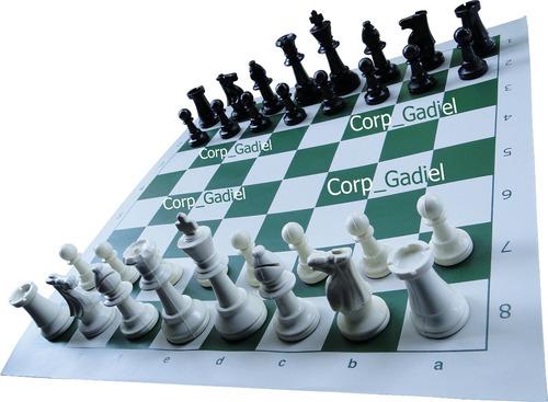 juego de ajedrez staunton # 5 con estuche.