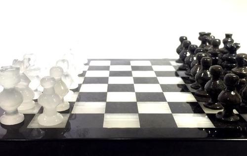 juego de ajedrez tablero de alabastro