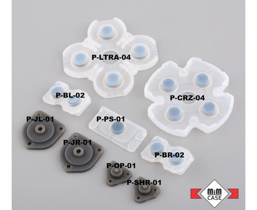 juego de almohadillas conductoras de silicona para ps4
