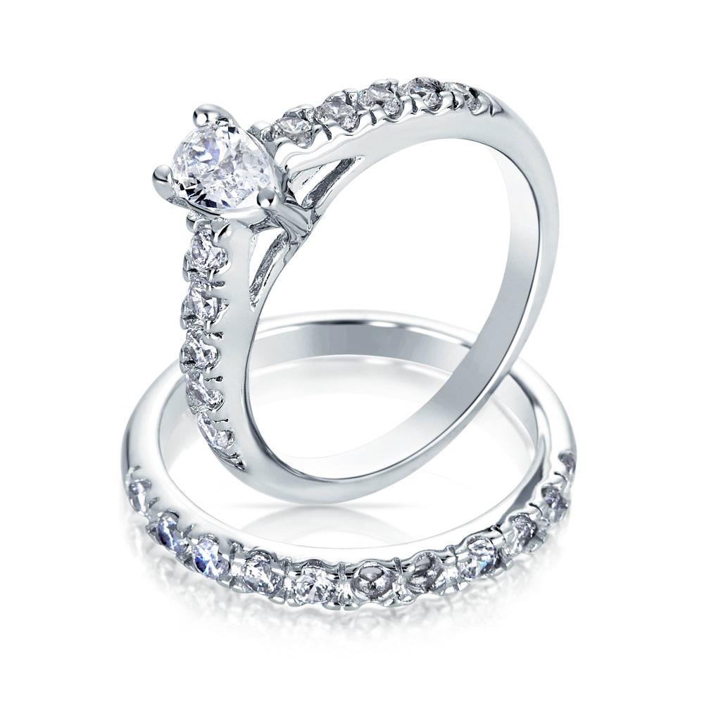 juego de anillos bling jewelry compromiso alianza d plata t8. Cargando zoom. 75ee6532583