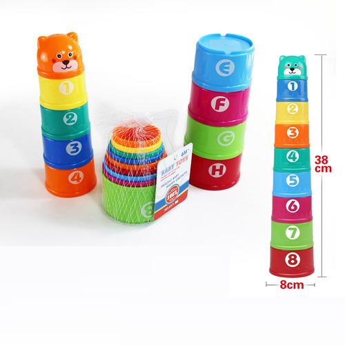 juego de apilar oso red - bebés y niños