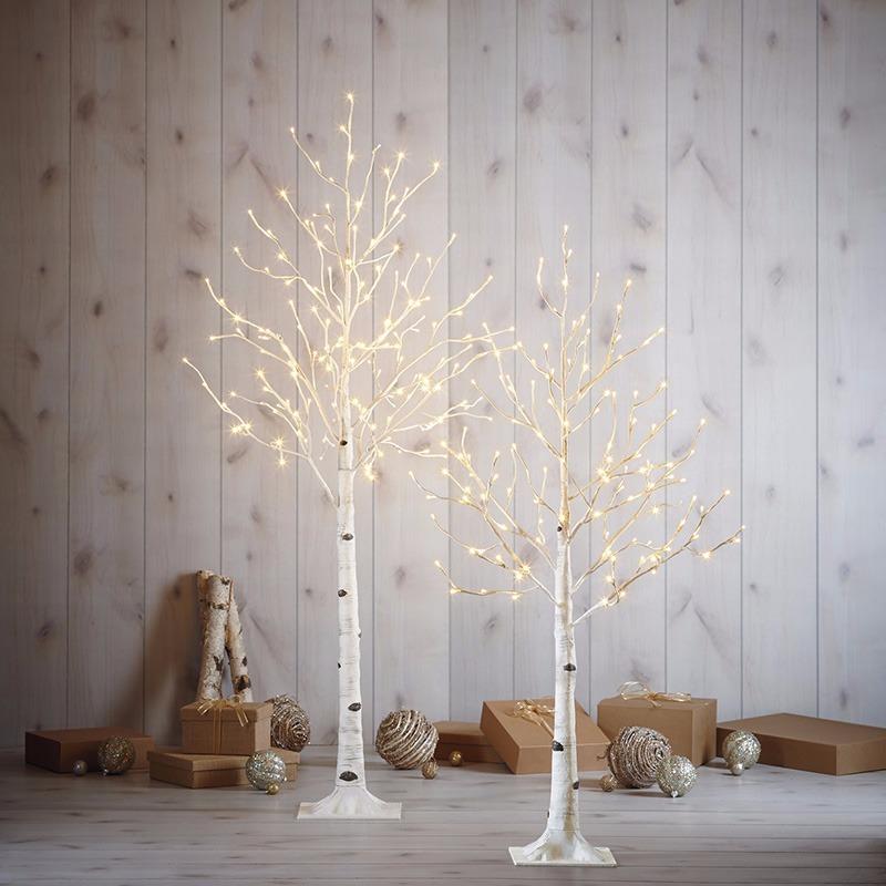 52f9adc40fe juego de arboles navidad abedul con luces led blanco. Cargando zoom.