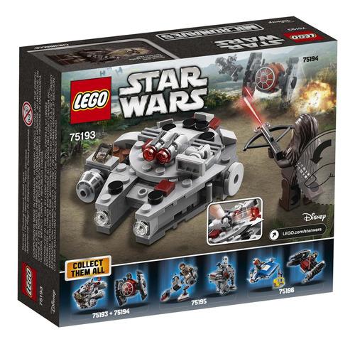 juego de armado de lego star wars microfighter halcón