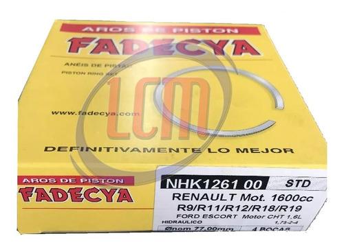 juego de aros hidraulicos renault fadecya 1.6 9-11-12-19 fd